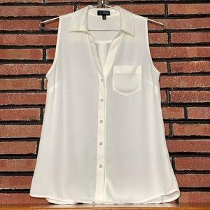 Tops - The Limited White Sleeveless Blouse SZ-XS